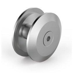 180° Glass Round Clamp, d=40mm, anodized aluminium