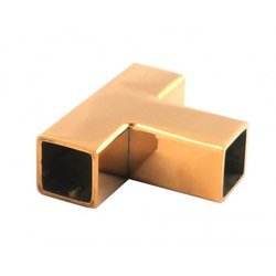 3-way Square 15  mm Shower Joint / Gold