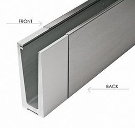 Back Cover for U Type  Channel ETP.001.01, L=2,5 m