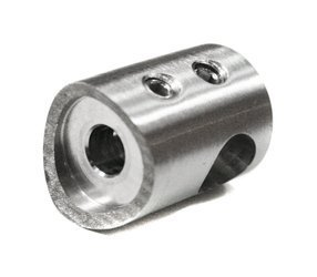 Curved Back Crossbar Holder for Ø6 pipe / Ø42,4 mm/  SATIN