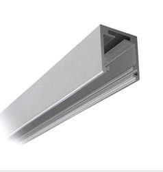 Fixed Panel 38x34 Profile with Seals for 12-12,76 mm Glass - Top Mounting