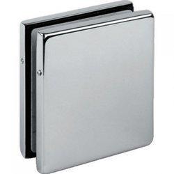 Frameless Door 4 Panels Clamp / Satin