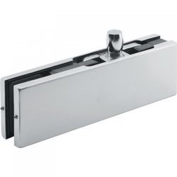Frameless Overpanel Fixing with Pin / Satin, Silver