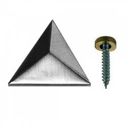 Mirror fixings screw decorative Cap/ 25,30 mm/ Polish, satin chrome