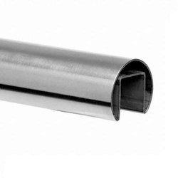 Ø 42,4 mm Round  Glass Balustrade  Handrail,  L - 2,5/5 m, satin