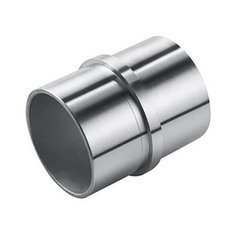 Straight Connector for Ø 42.4 mm  Pipe /Satin, Polish