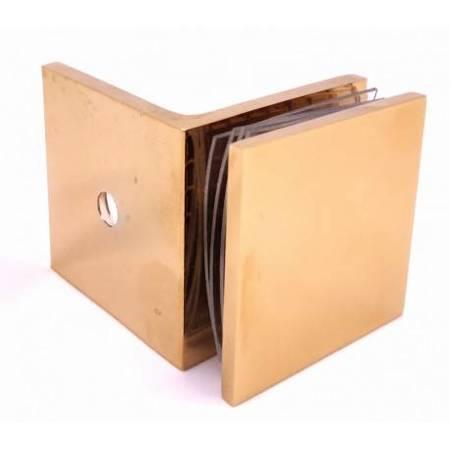 45x45 90°  Polish Brass Shower Clamp
