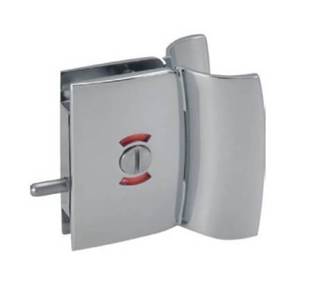 Bathroom Glass Door Lock with Blockade Function