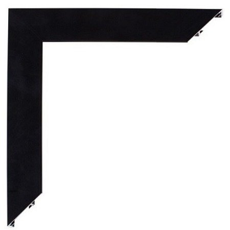 Black Anodized Mirror Frame  Profile , L=3 m