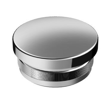 Curved Back End Cap for Ø 25x2 mm   / Polish
