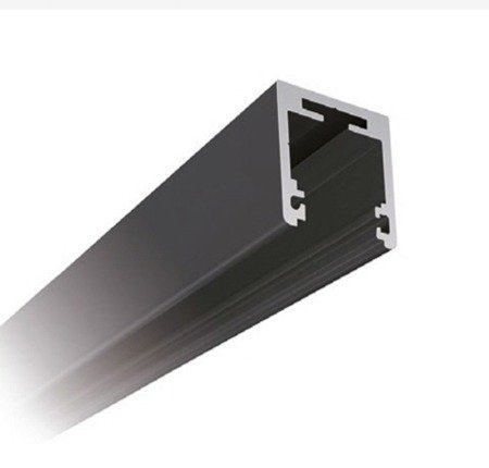 Fixed Panel 27x27 Black Profile with Seals  (8-10 mm Glass) for Top Mounting