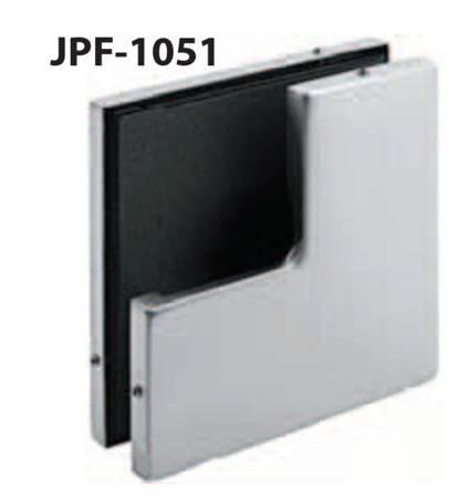 Framless Door Angle Connector with opening Blockade / Satin