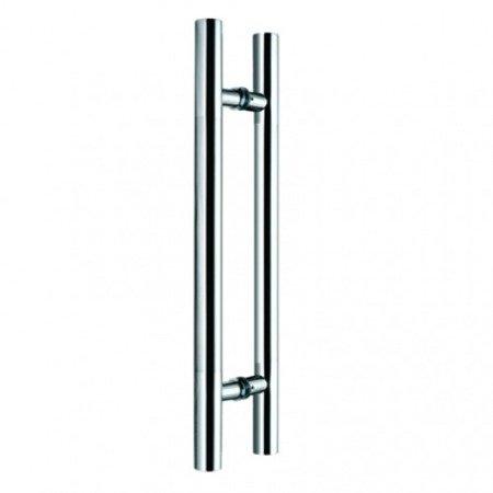 Glass Door Handle,/Polish, Satin, L=450 mm
