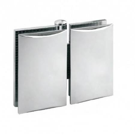 Glass Door Hinge  / Glass-Glass/ Chrome Polish
