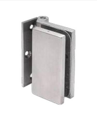 Glass Door Hinge / Satin, Silver