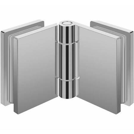 Glass-Glass  Hinge S101 with Masking Caps/ Chrome Polish