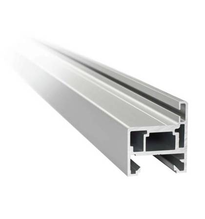 H type Profile Set for Glass Door Frame, H=2300 mm / Satin, Silver
