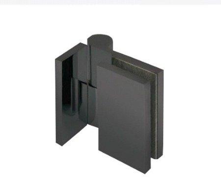 Lifting Black Hinge (Wall to Gass 90°) for loft