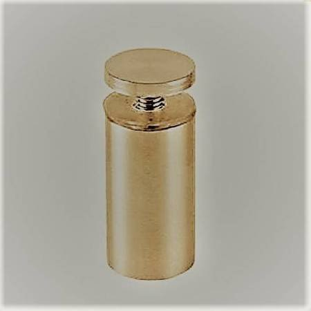 Ø 12 mm Distance Fixing for Glass Ads Panel/Brass Polish, Brushed