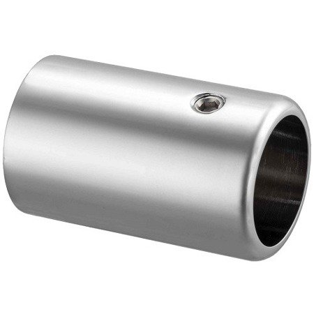 Round Ø 19 mm Connector for Stabilizer (wall-railing) / Polish, Satin