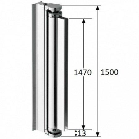 Shower Screen Hinge, L=150 cm, 190 cm, 210 cm