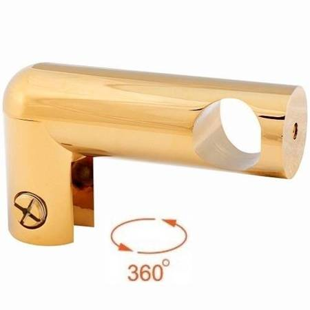 Side Ø 19 mm Shower Support / Brass Polish