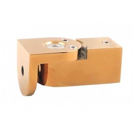 Square 15 mm Wall Ajustable Mount/ Brass Polish