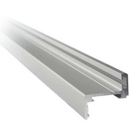 Z type Profile Set for Glass Door Frame, H=2300 mm / Satin, Silver
